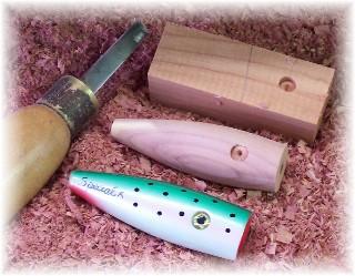 wooden lure making, Fishing Bait